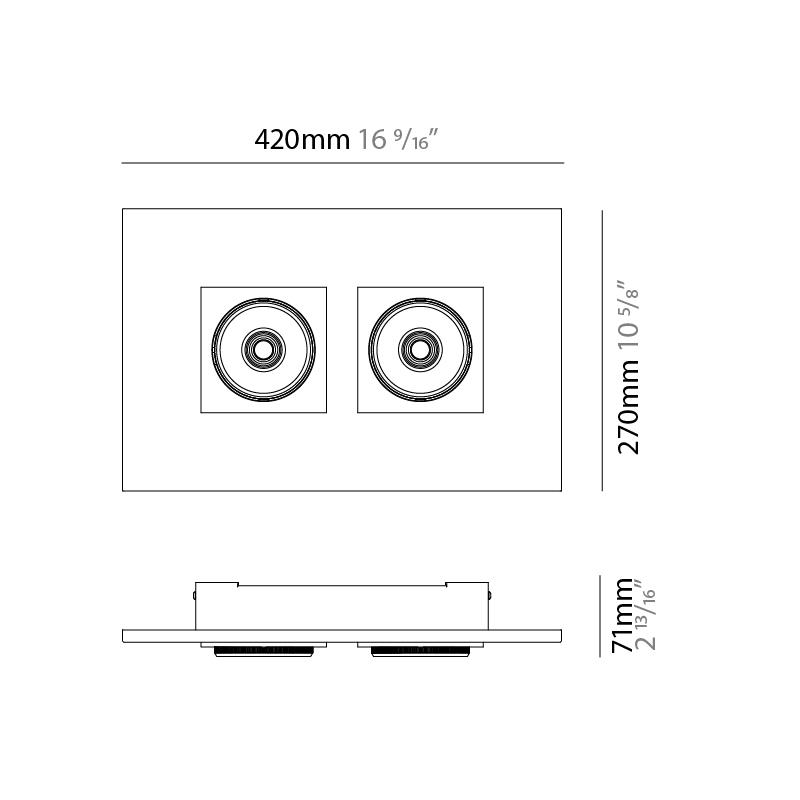 Marc by Milan – 16 9/16″ x 2 13/16″ Surface, Downlight offers quality European interior lighting design | Zaneen Design