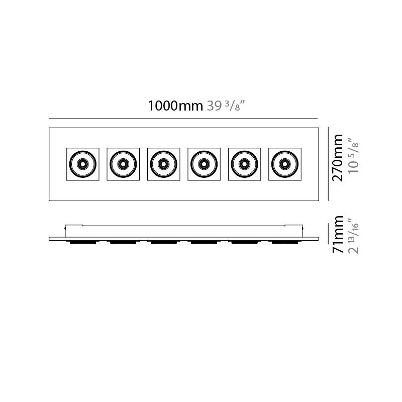 Marc by Milan – 39 3/8″ x 2 13/16″ Surface, Downlight offers quality European interior lighting design   Zaneen Design