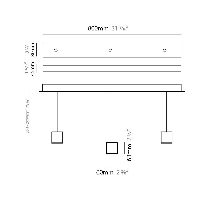 Match by Quasar – 31 1/2″ x 2 1/2″ Suspension, Pendant offers quality European interior lighting design | Zaneen Design