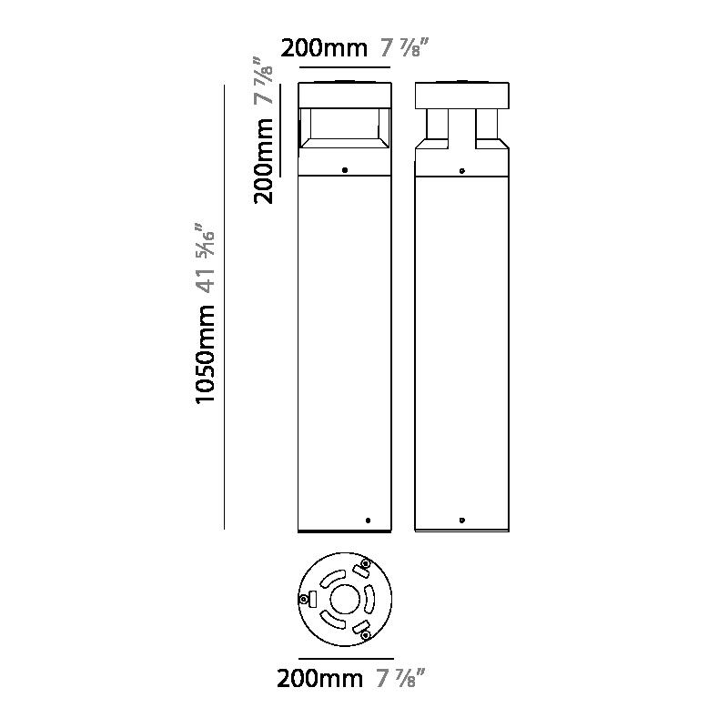 Menhir by Platek – 7 7/8″ x 41 5/16″ Post, Bollard offers high performance and quality material | Zaneen Exterior