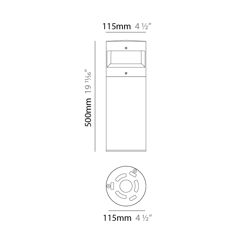 Menhir by Platek – 4 1/2″ x 19 11/16″ Post, Bollard offers high performance and quality material | Zaneen Exterior
