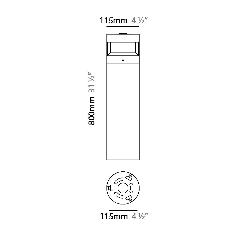 Menhir by Platek – 4 1/2″ x 31 1/2″ Post, Bollard offers high performance and quality material   Zaneen Exterior