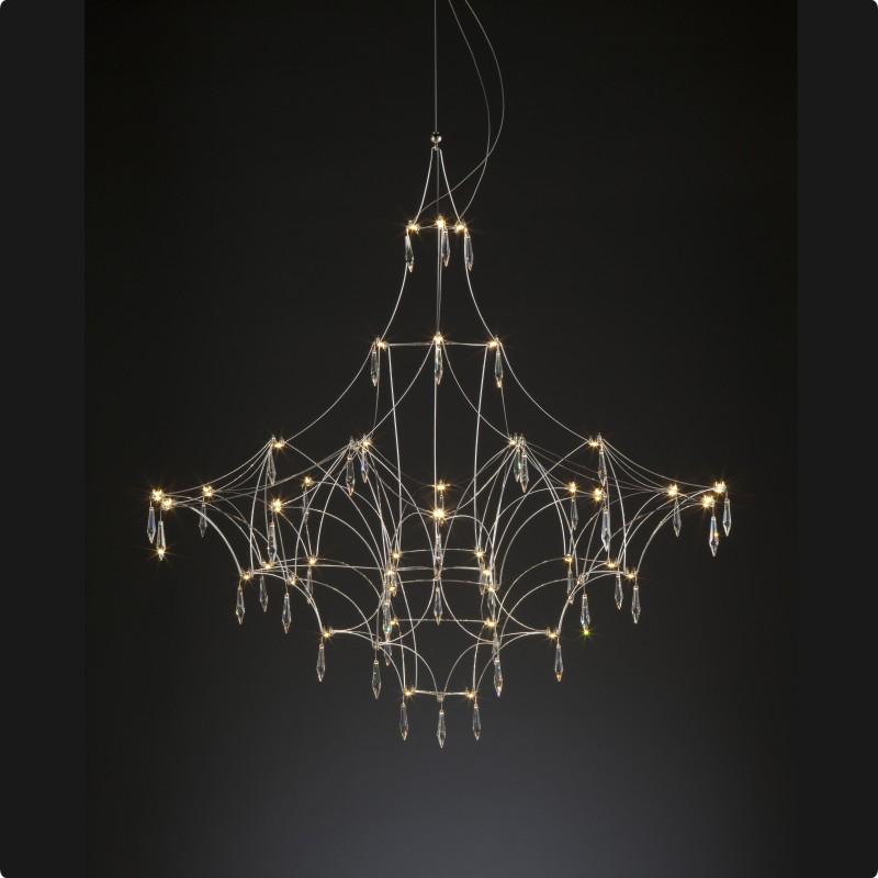 Mira by Quasar – 47 1/4″ x 47 1/4″ Suspension, Ambient offers quality European interior lighting design | Zaneen Design