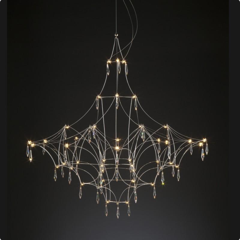 Mira by Quasar – 55 1/8″ x 55 1/8″ Suspension, Ambient offers quality European interior lighting design | Zaneen Design