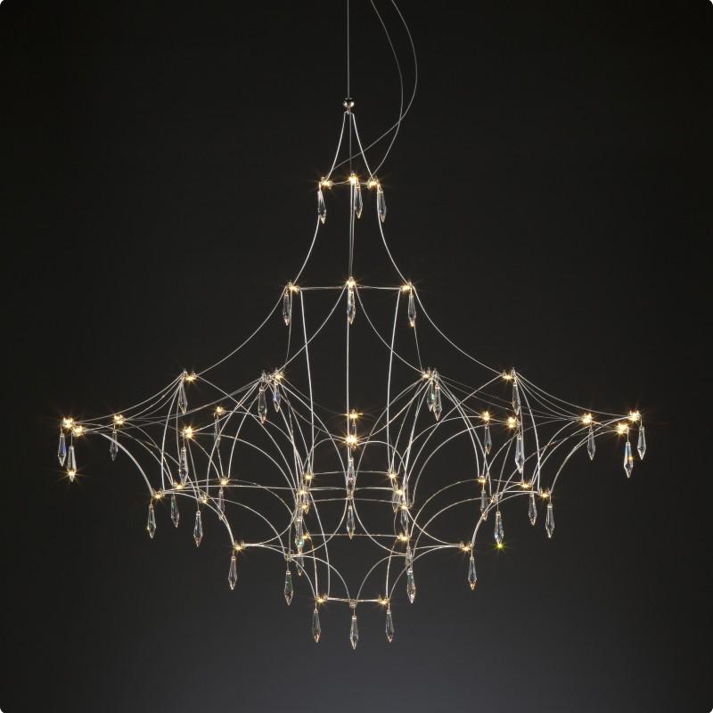 Mira by Quasar – 63″ x 63″ Suspension, Ambient offers quality European interior lighting design | Zaneen Design