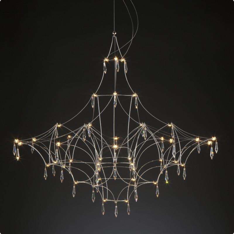 Mira by Quasar – 70 7/8″ x 70 7/8″ Suspension, Ambient offers quality European interior lighting design | Zaneen Design