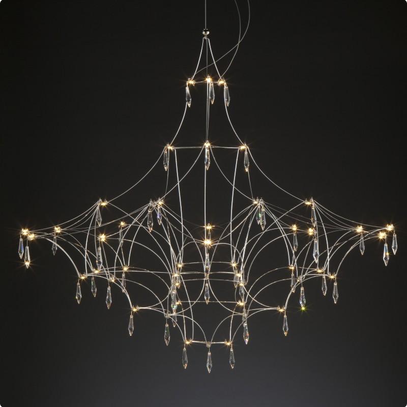 Mira by Quasar – 78 3/4″ x 78 3/4″ Suspension, Ambient offers quality European interior lighting design | Zaneen Design