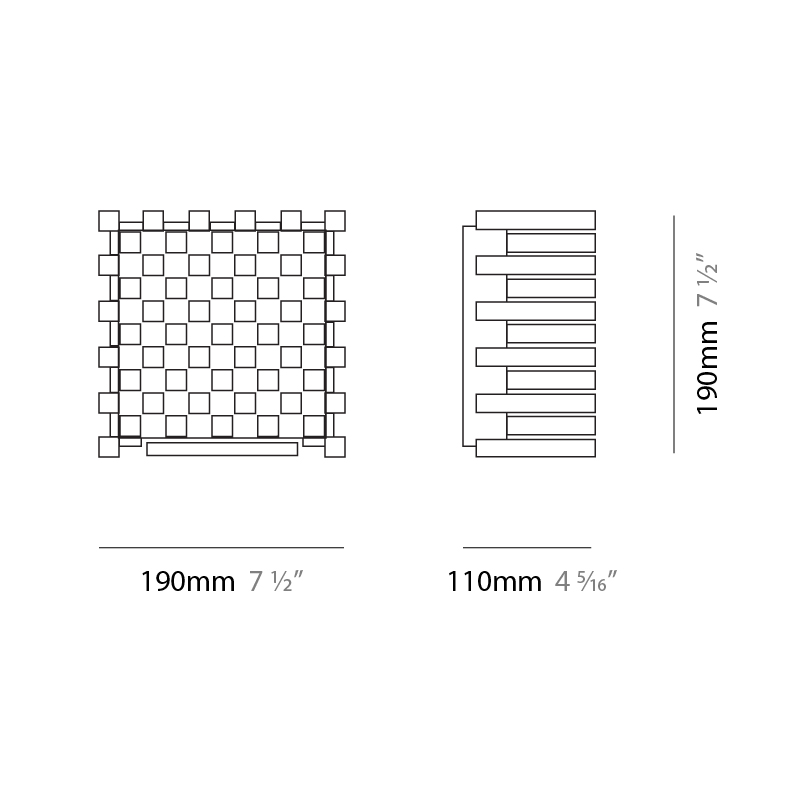 Naica by Cini & Nils – 7 1/2″ x 7 1/2″ Surface, Wall Effect offers quality European interior lighting design   Zaneen Design / Line art