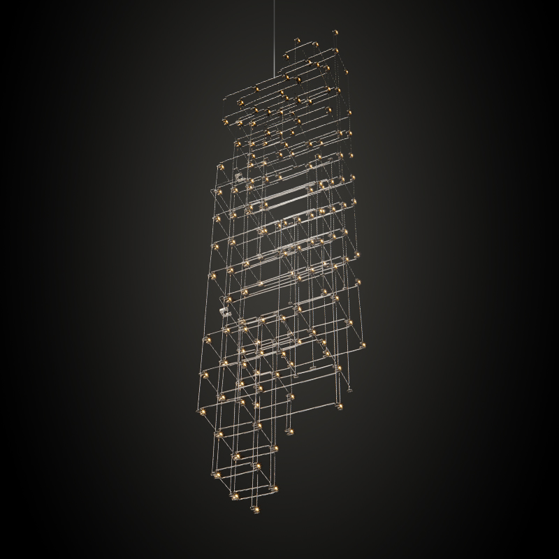 Orion by Quasar – 11 13/16″ x 59 1/16″ Suspension, Ambient offers quality European interior lighting design | Zaneen Design