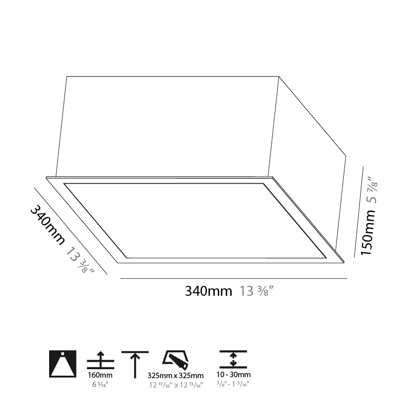 Pi2 by Prolicht – 13 3/8″ x 5 7/8″ Recessed, Ambient offers LED lighting solutions   Zaneen Architectural