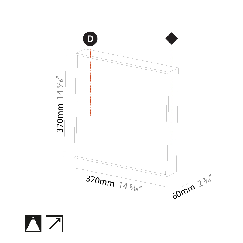 Pi2 by Prolicht – 14 9/16″ x 14 9/16″ Surface, Ambient offers LED lighting solutions   Zaneen Architectural
