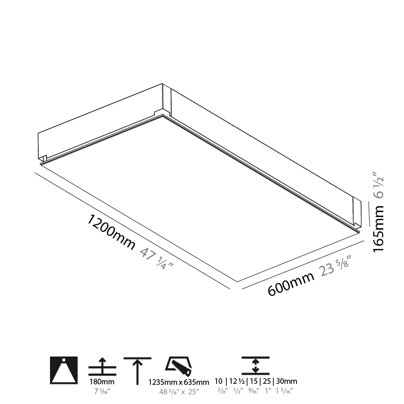 Pi2 by Prolicht – 47 1/4″ Trimless, Ambient offers LED lighting solutions | Zaneen Architectural
