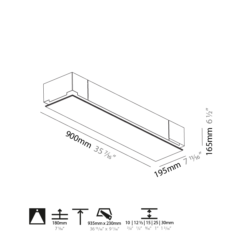 Pi2 by Prolicht – 35 7/16″ Trimless, Ambient offers LED lighting solutions   Zaneen Architectural