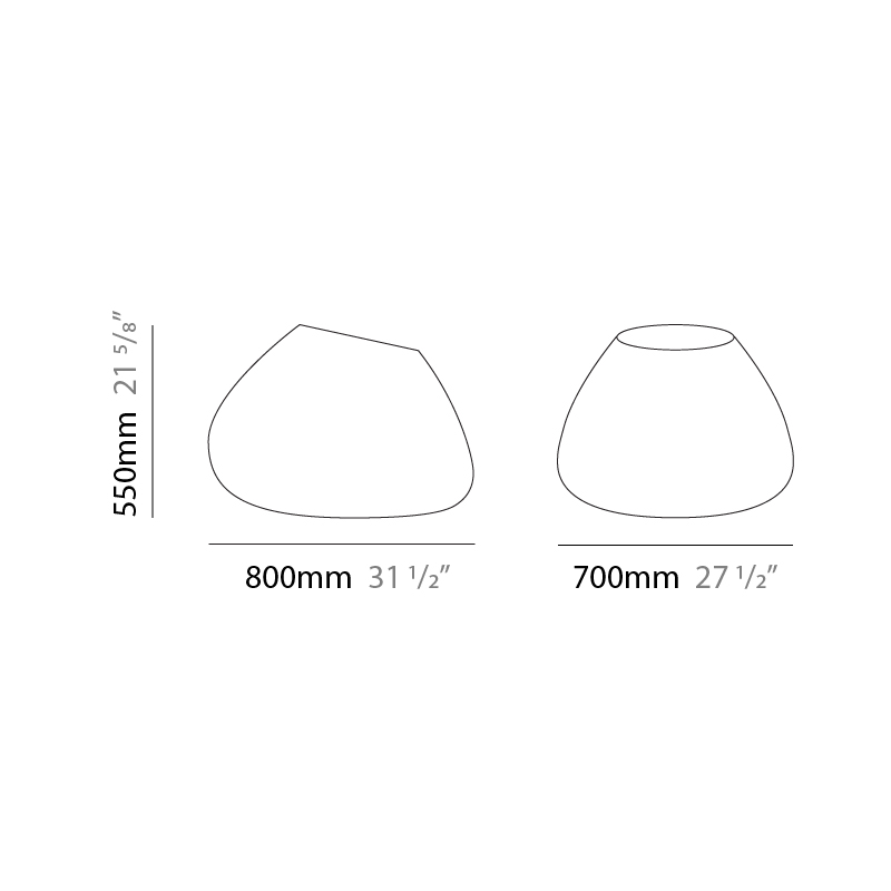 Potter by Panzeri – 31 1/2″ x 21 5/8″ Portable, Floor offers quality European interior lighting design | Zaneen Design