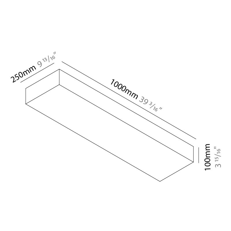Quadro by Knikerboker – 39 3/8″ x 3 15/16″ Surface, Ambient offers quality European interior lighting design | Zaneen Design