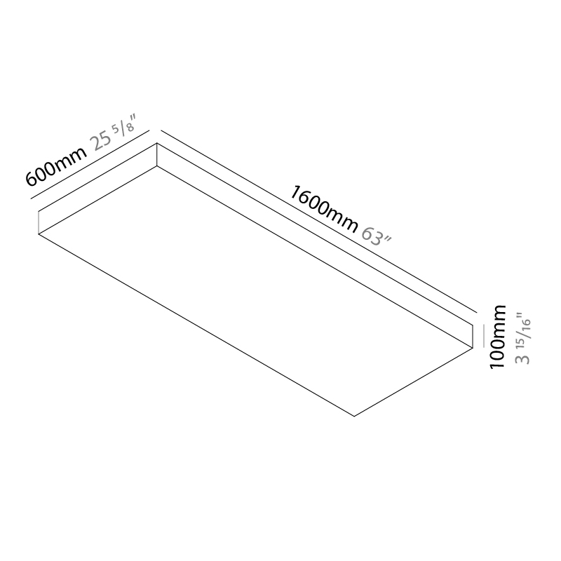 Quadro by Knikerboker – 63″ x 3 15/16″ Surface, Ambient offers quality European interior lighting design | Zaneen Design