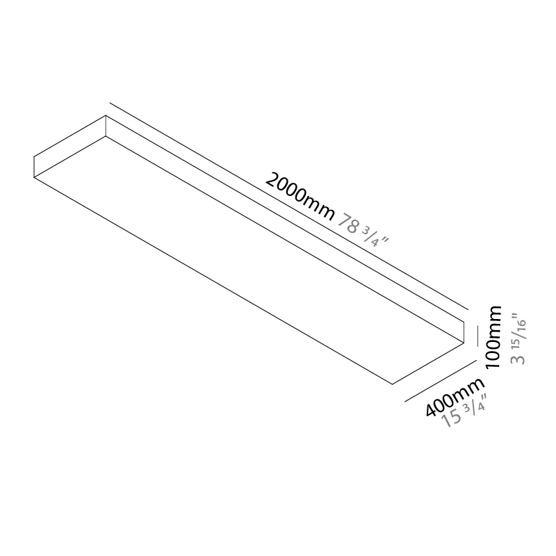 Quadro by Knikerboker – 78 3/4″ Surface, Ambient offers quality European interior lighting design | Zaneen Design