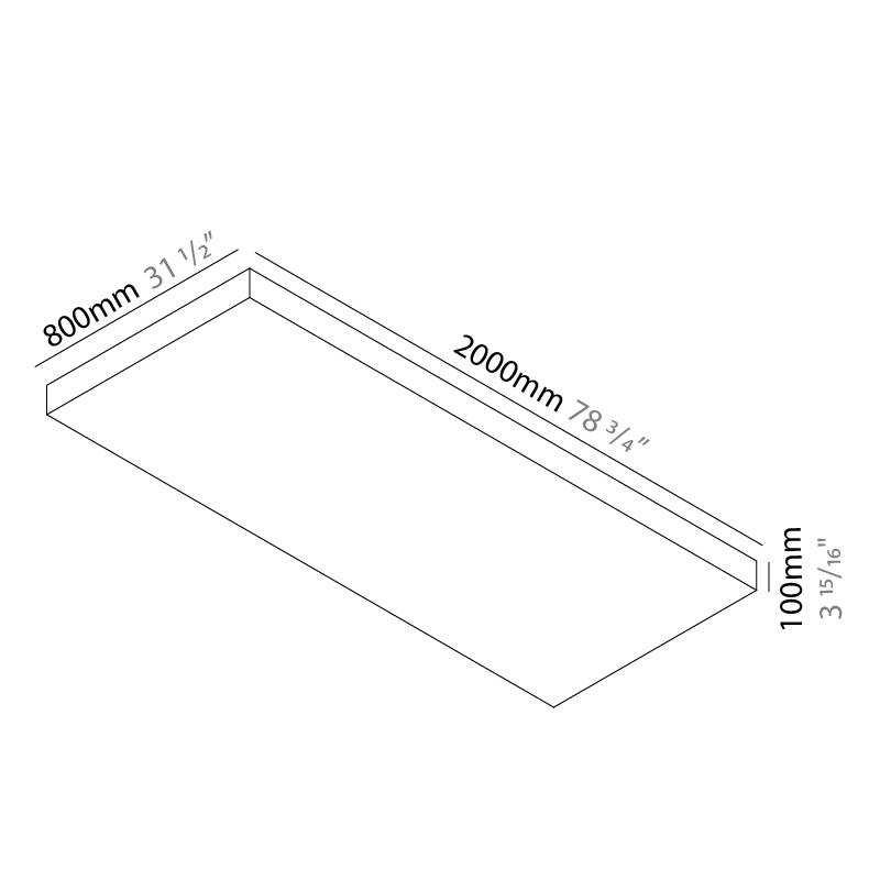 Quadro by Knikerboker – 78 3/4″ x 3 15/16″ Surface, Ambient offers quality European interior lighting design | Zaneen Design