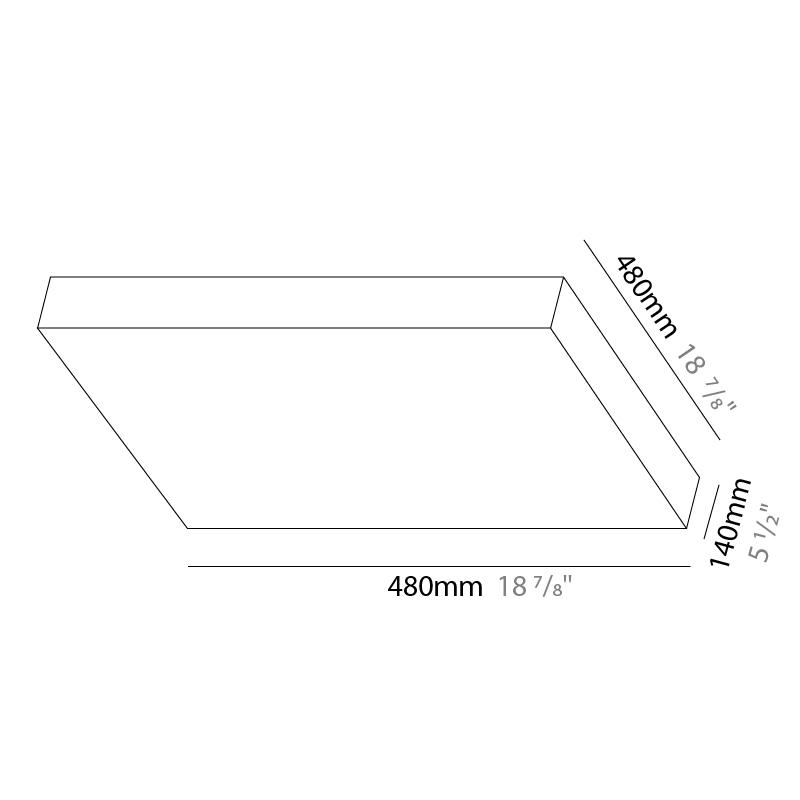 Quadro by Knikerboker – 18 7/8″ x 18 7/8″ Portable, Floor offers quality European interior lighting design   Zaneen Design