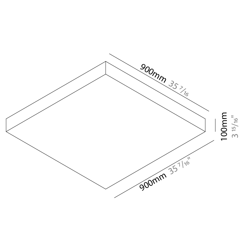 Quadro by Knikerboker – 35 7/16″ Surface, Ambient offers quality European interior lighting design | Zaneen Design