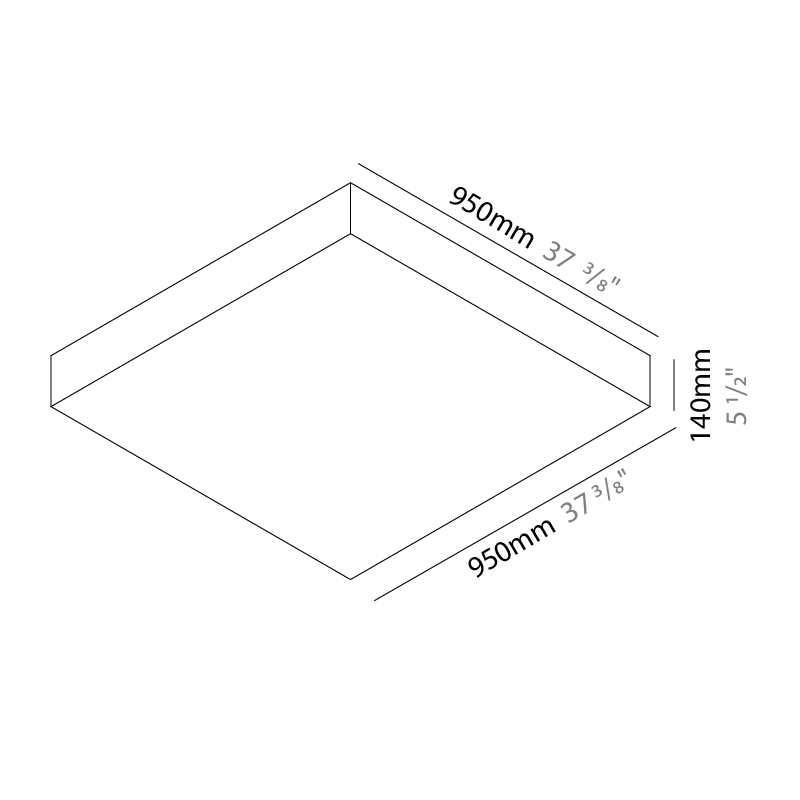 Quadro by Knikerboker – 37 3/8″ x 5 1/2″ Surface, Ambient offers quality European interior lighting design | Zaneen Design