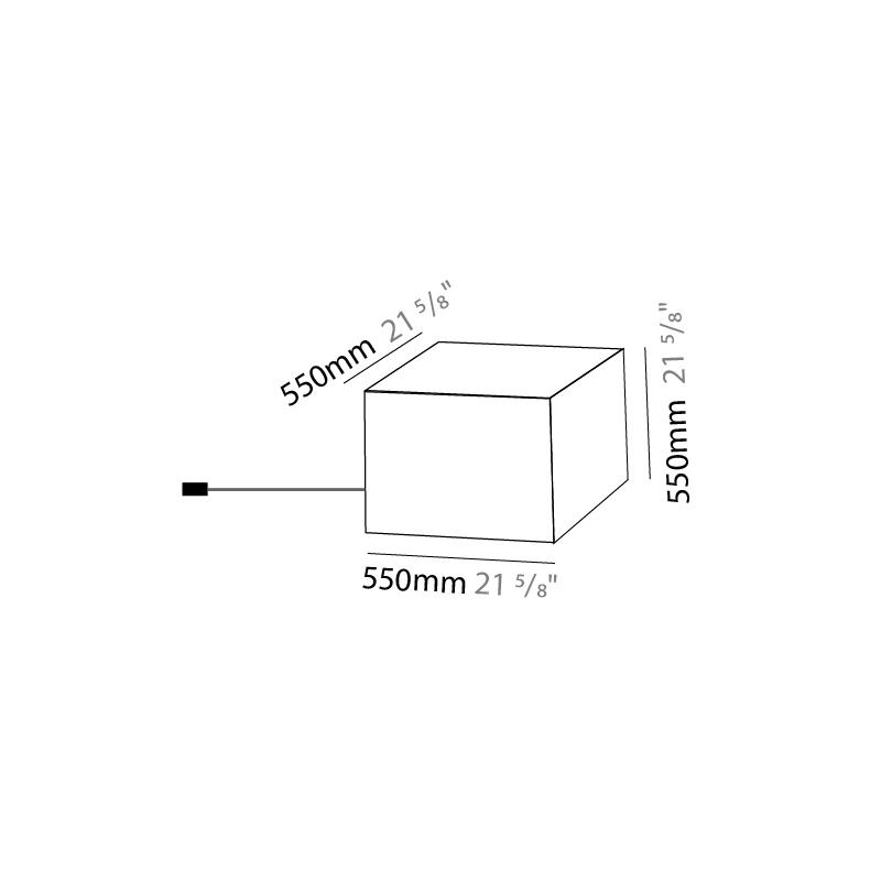 Quadro by Knikerboker – 21 5/8″ x 21 5/8″ Portable, Floor offers quality European interior lighting design   Zaneen Design