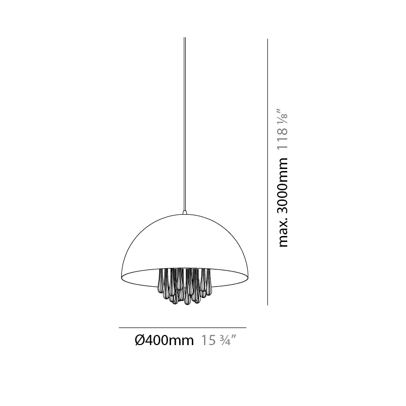 Raindrops by Milan – 15 3/4″ Suspension, Pendant offers quality European interior lighting design   Zaneen Design / Line art