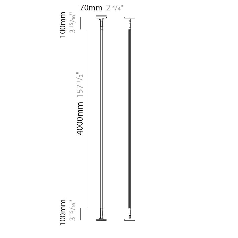 Rita by Ole – 157 1/2″ Surface, Profile offers quality European interior lighting design | Zaneen Design / Line art