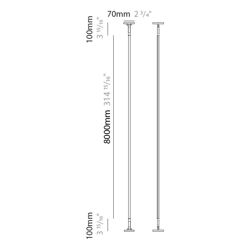 Rita by Ole – 314 15/16″ Surface, Profile offers quality European interior lighting design | Zaneen Design / Line art