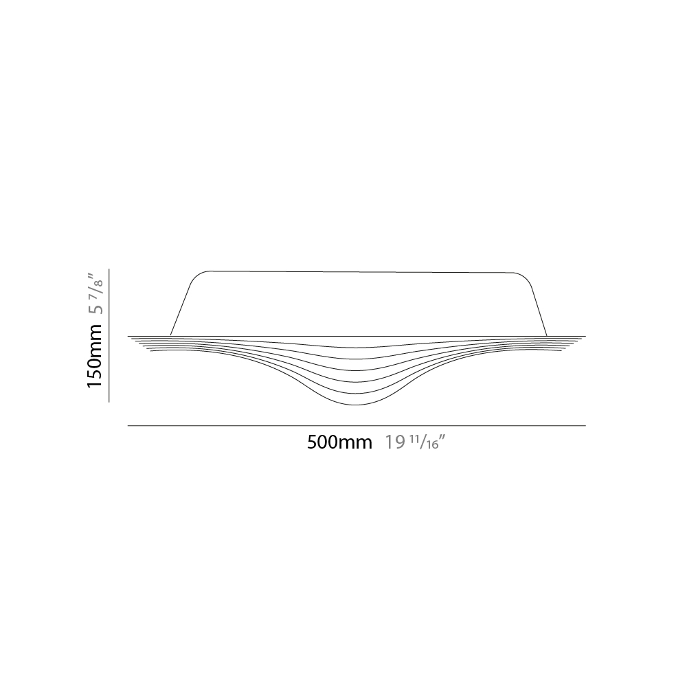 Sestessa by Cini & Nils – 19 11/16″ x 5 7/8″ Surface, Ambient offers quality European interior lighting design   Zaneen Design