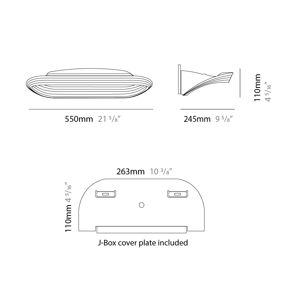 Sestessa by Cini & Nils – 21 5/8″ x 4 5/16″ Surface, Ambient offers quality European interior lighting design   Zaneen Design