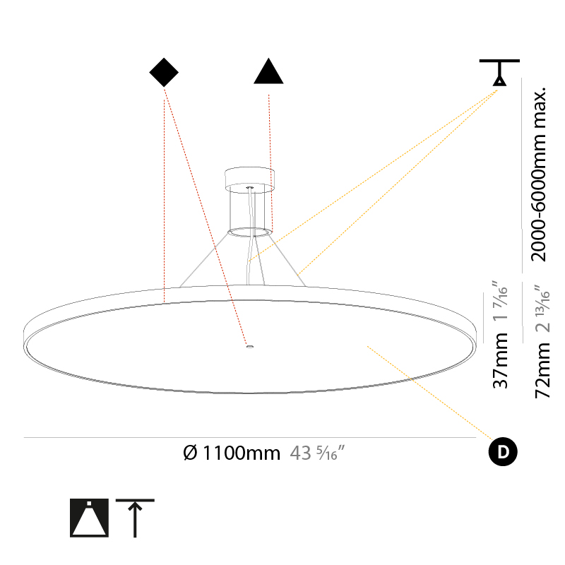 Sign by Prolicht – 43 5/16″ x 3 3/8″ Suspension, Pendant offers LED lighting solutions | Zaneen Architectural