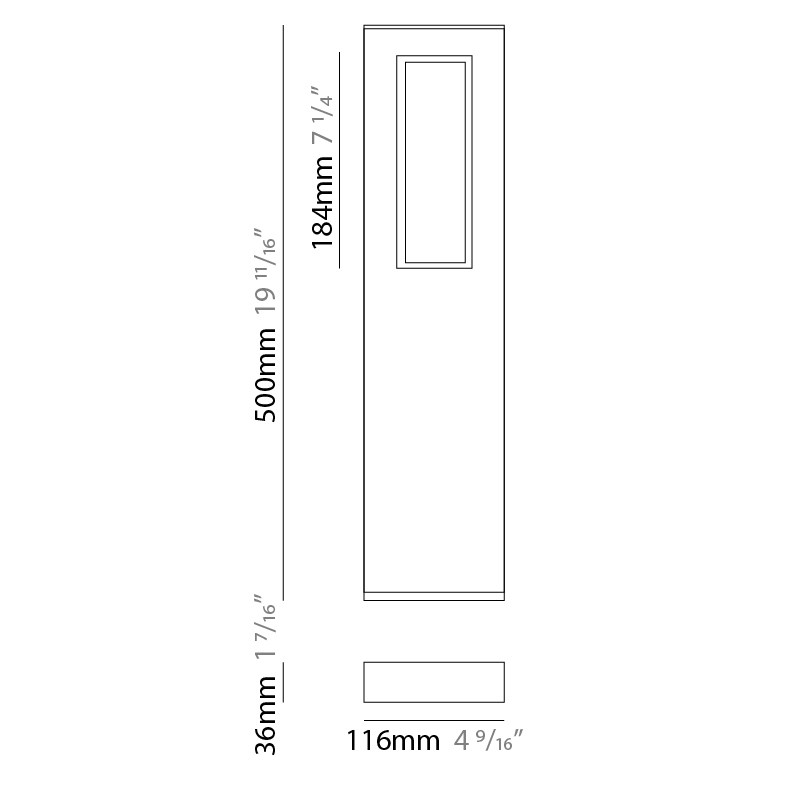 Slim by Platek – 4 9/16″ x 19 11/16″ Post, Bollard offers high performance and quality material | Zaneen Exterior