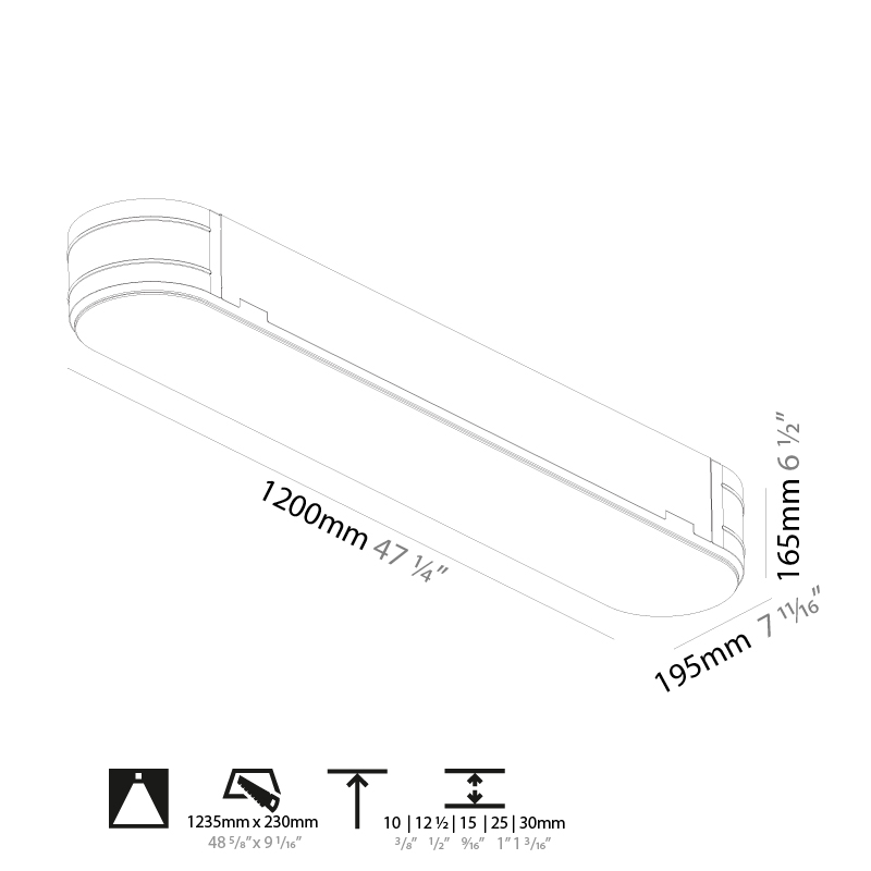 Smoothy by Prolicht – 47 1/4″ Trimless, Ambient offers LED lighting solutions   Zaneen Architectural