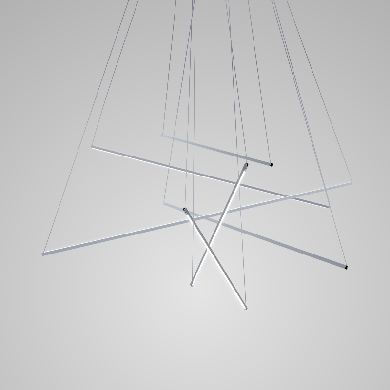 Spillo by Icone –  x 59 1/16″ Suspension, Ambient offers quality European interior lighting design | Zaneen Design