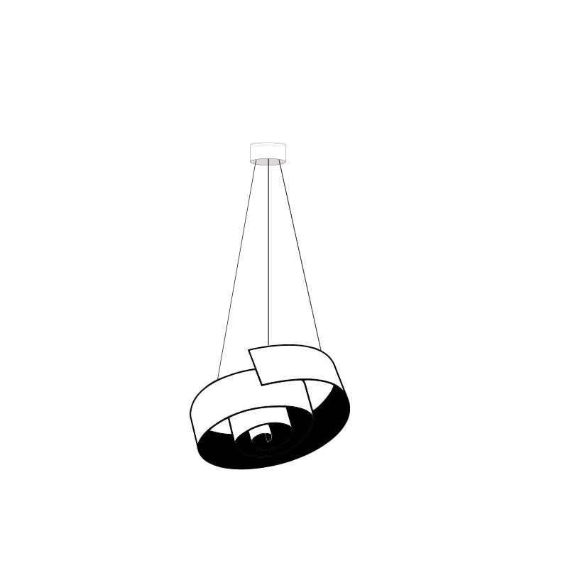 Spirale by Knikerboker – 43 5/16″ x 9 13/16″ Suspension, Pendant offers quality European interior lighting design   Zaneen Design