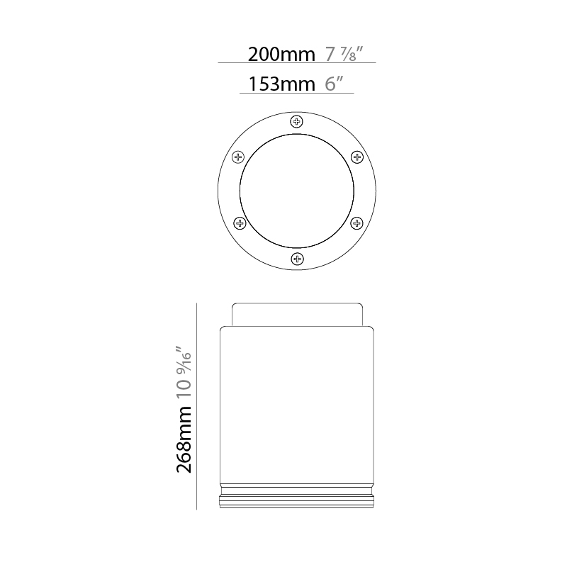 Spot by Platek – 7 7/8″ x 10 9/16″ Surface, Downlight offers high performance and quality material   Zaneen Exterior / Line art