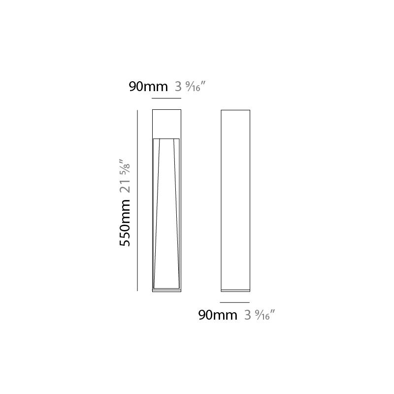 Stick by Platek – 3 9/16″ x 21 5/8″ Post, Bollard offers high performance and quality material   Zaneen Exterior / Line art