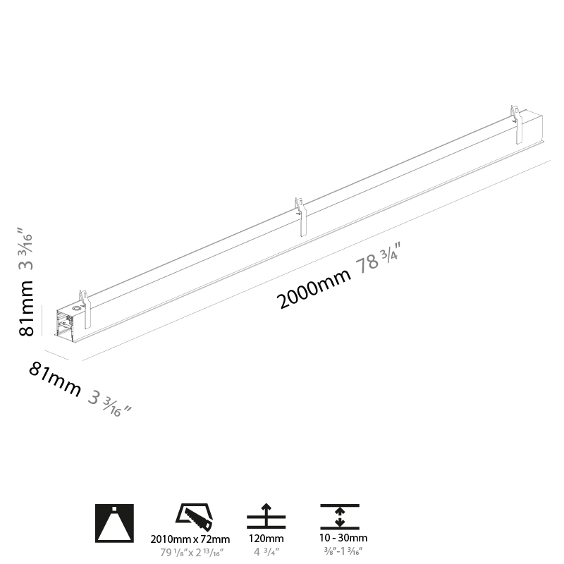 Super-G by Prolicht – 78 3/4″ x 3 3/16″ Recessed, Profile offers LED lighting solutions   Zaneen Architectural