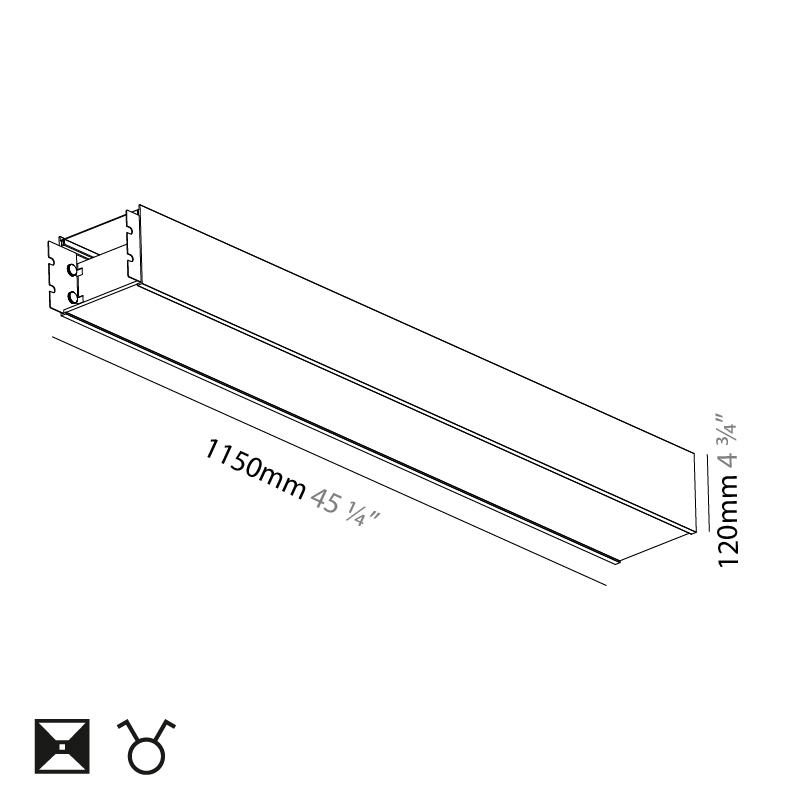 Super-G by Prolicht – 45 1/4″ x 4 3/4″ Suspension, Profile offers LED lighting solutions   Zaneen Architectural