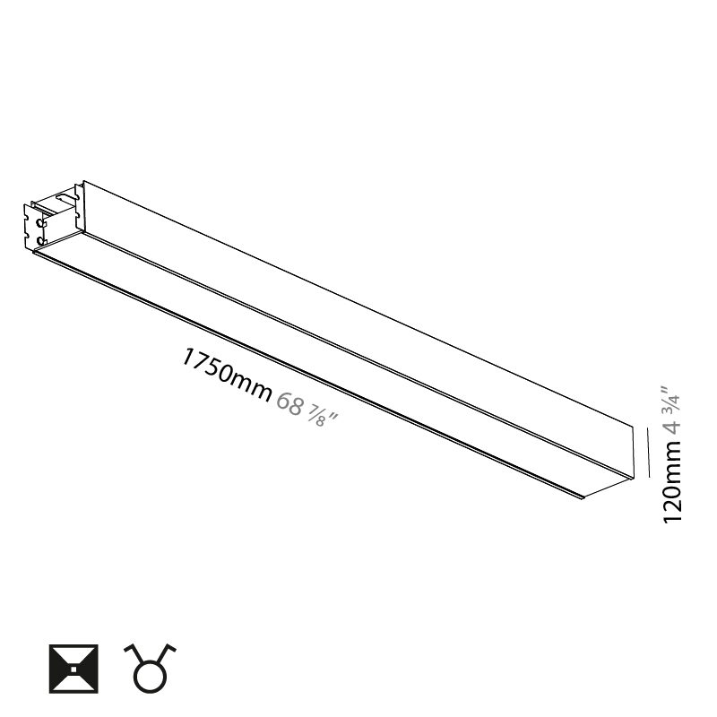 Super-G by Prolicht – 68 7/8″ x 4 3/4″ Suspension, Profile offers LED lighting solutions   Zaneen Architectural