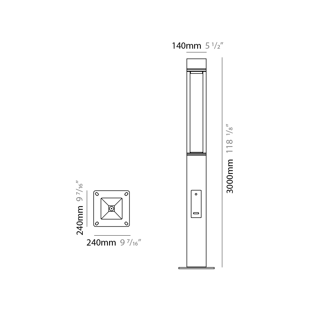 T4 by Platek – 9 7/16″ x 118 1/8″ Post, Bollard offers high performance and quality material | Zaneen Exterior