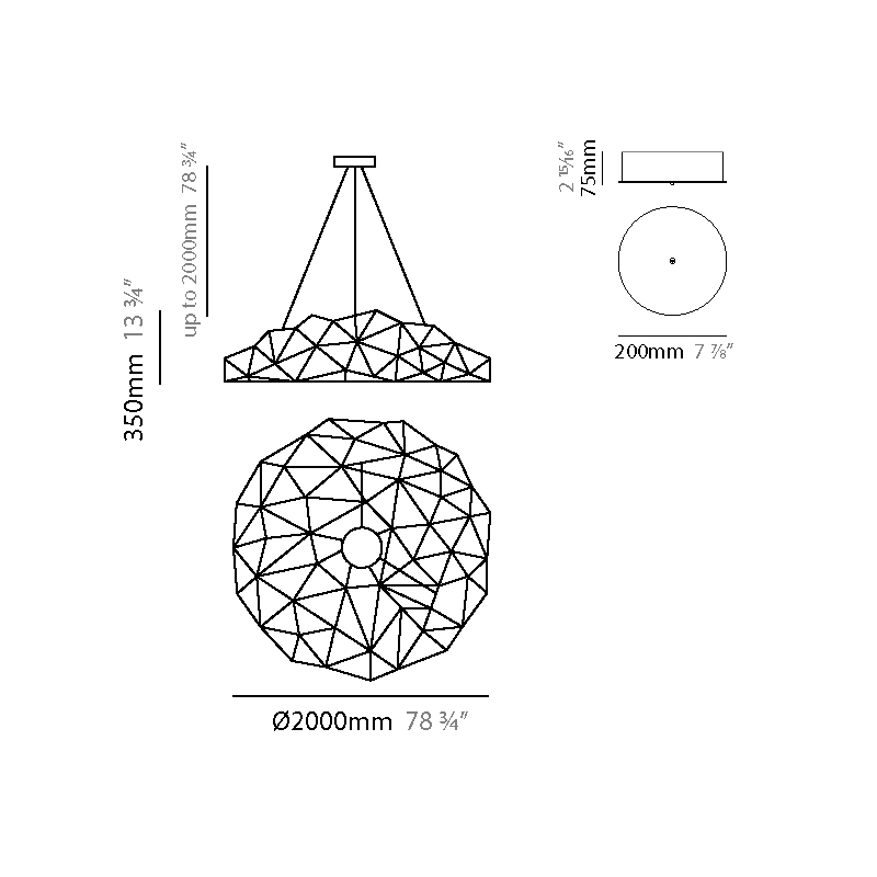 Universe by Quasar – 78 3/4″ x 13 3/4″ Suspension, Ambient offers quality European interior lighting design | Zaneen Design