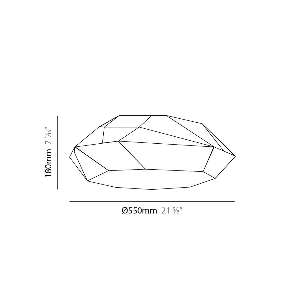 Viki by Panzeri – 21 5/8″ x 7 1/16″ Surface, Ambient offers quality European interior lighting design | Zaneen Design