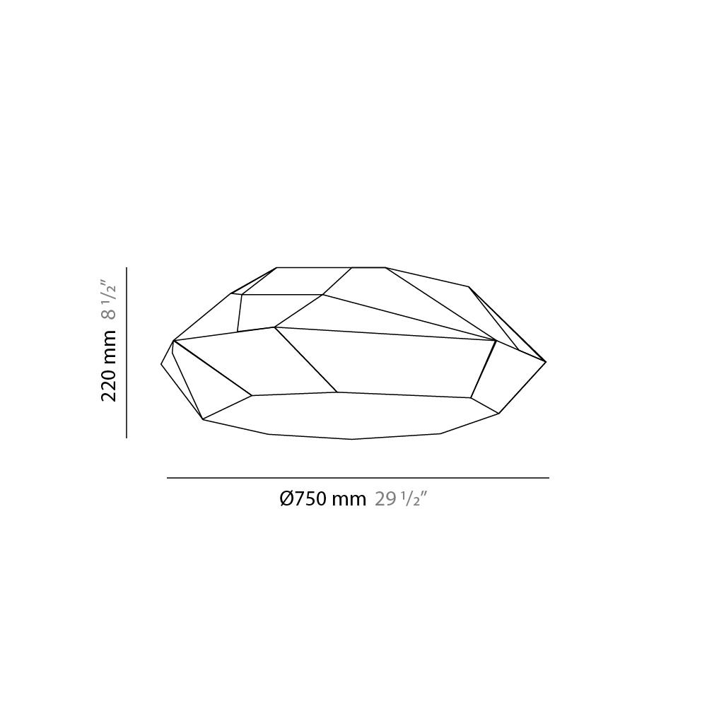 Viki by Panzeri – 29 1/2″ x 8 11/16″ Surface, Ambient offers quality European interior lighting design | Zaneen Design