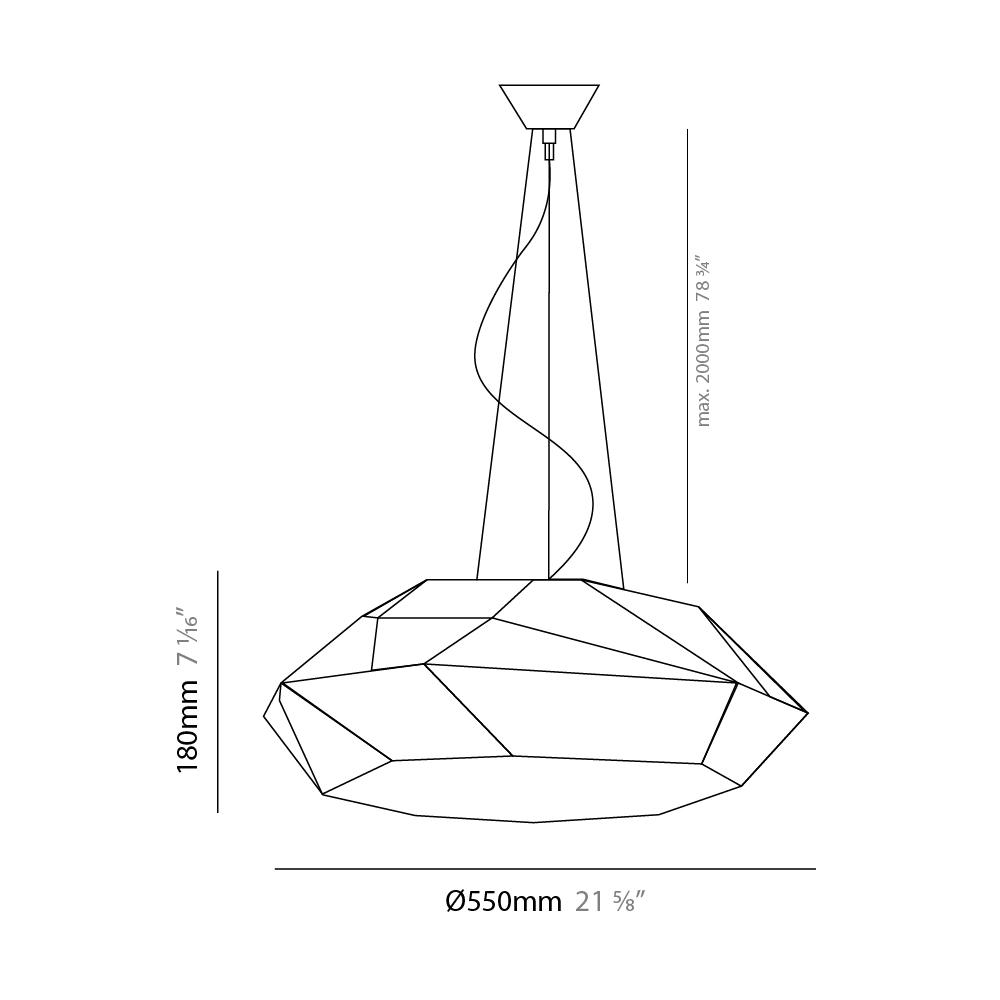 Viki by Panzeri – 21 5/8″ x 7 1/16″ Suspension, Pendant offers quality European interior lighting design   Zaneen Design