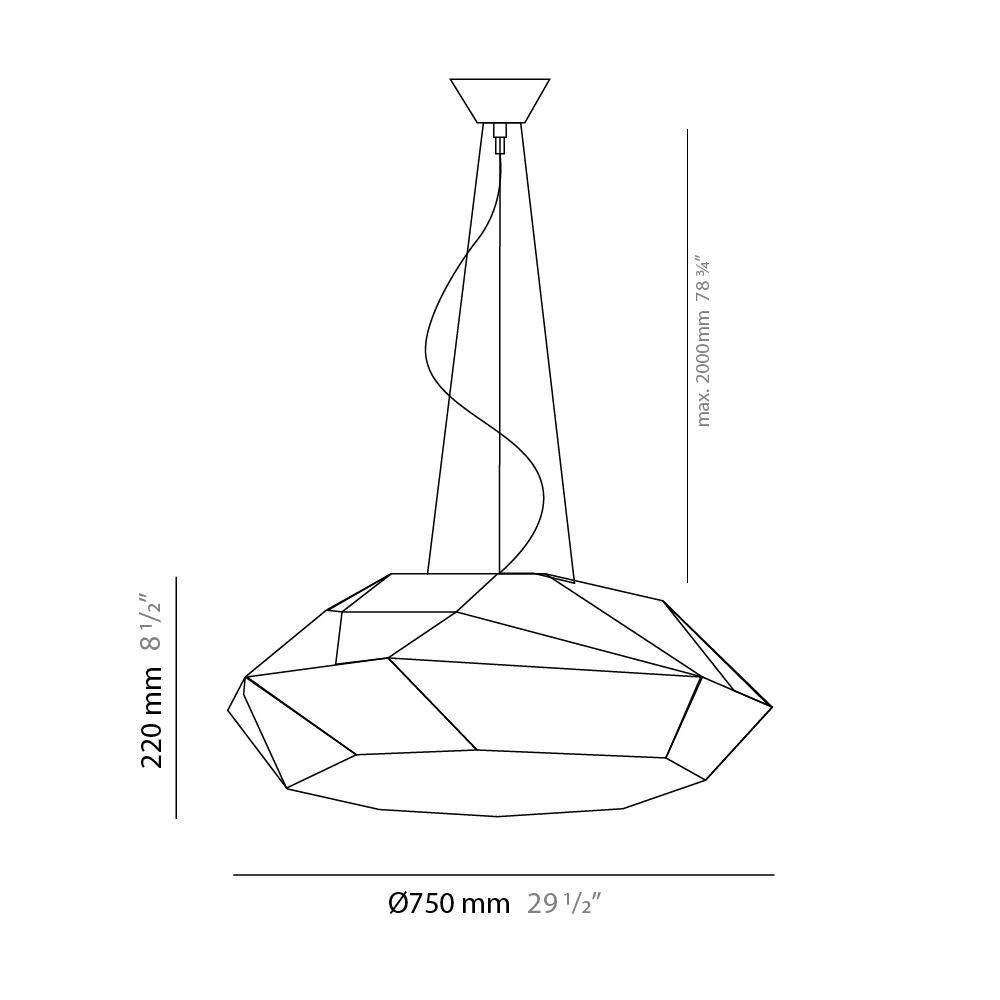Viki by Panzeri – 29 1/2″ x 8 11/16″ Suspension, Pendant offers quality European interior lighting design   Zaneen Design