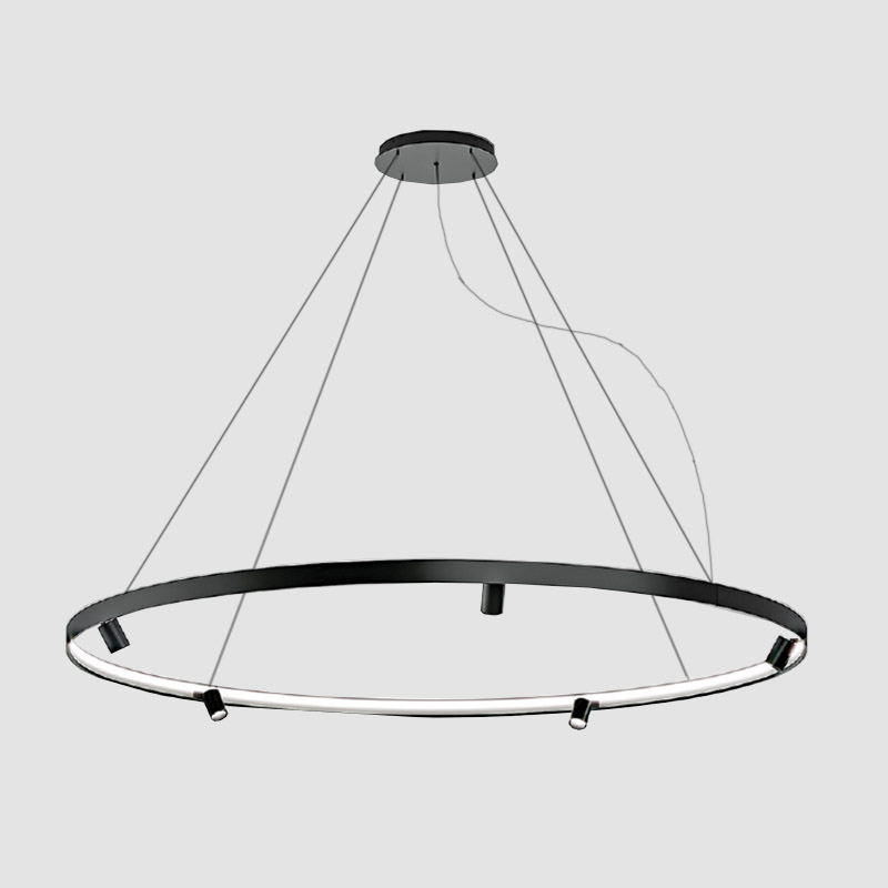 Arena by Panzeri - Suspension ring luminaires with adjustable LED spots