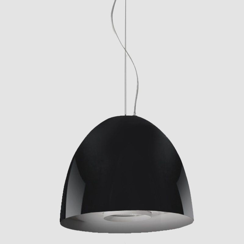 Aurora by Side - Dome-shaped pendant architectural lighting fixture available in 12Ó and 20Ó diameter