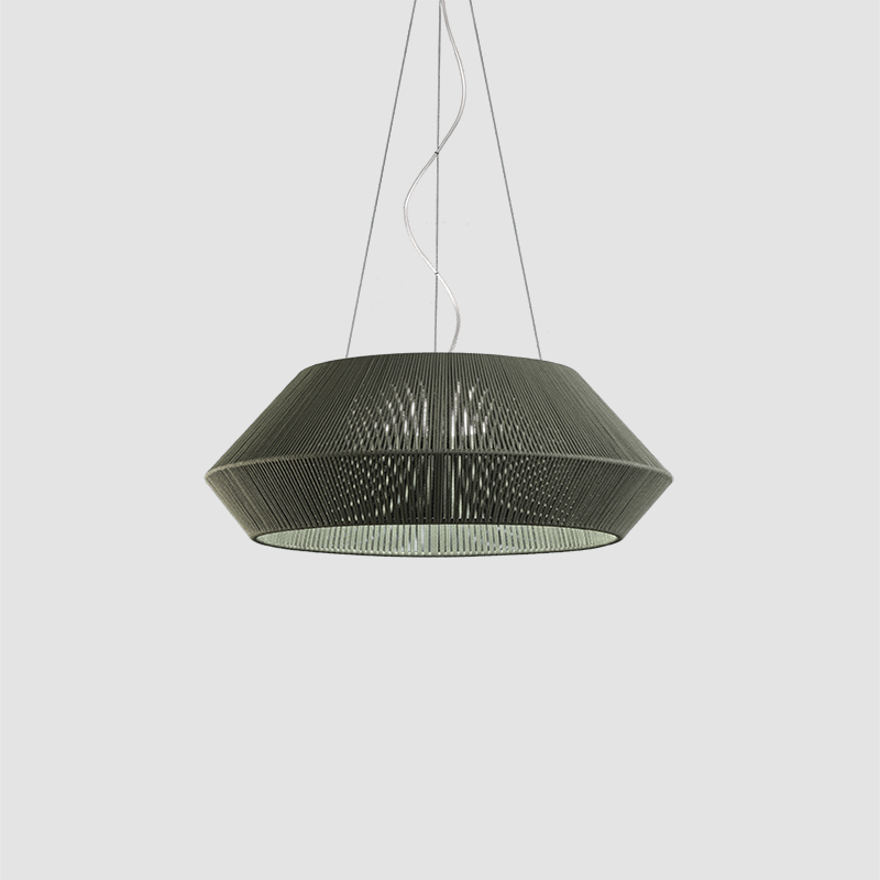 Banyo by Ole - Design pendant light with hand-made braided cord lampshade